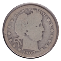 1907 USA Quarter About Good (AG-3)