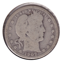 1907 USA Quarter Good (G-4)