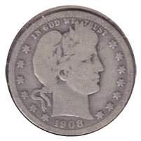 1908 O USA Quarter Good (G-4)