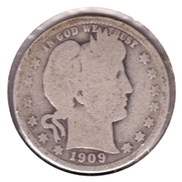 1909 USA Quarter About Good (AG-3)