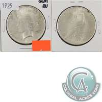 1925 USA Dollar Gem Brilliant Uncirculated (MS-65) $