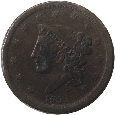 1838 USA Cent F-VF (F-15) $