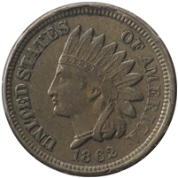 1862 USA Cent EF-AU (EF-45) $