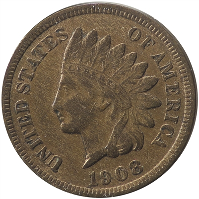 1908 S USA Cent VF-EF (VF-30) $