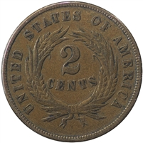 1868 USA 2 Cents VF-EF (VF-30) $
