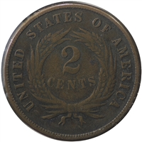 1870 USA 2 Cents F-VF (F-15) $