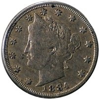 1884 USA Nickel VF-EF (VF-30) $