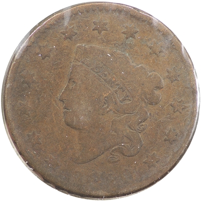 1820 Large Date Plain Top 2 USA Cent Very Good (VG-8)