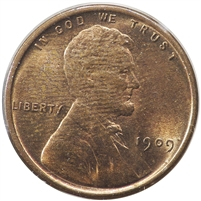 1909 VDB USA Lincoln Cent Brilliant Uncirculated Red & Brown (MS-63)