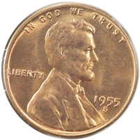 1955 S USA Cent Choice Brilliant Uncirculated (MS-64)