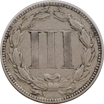 1867 USA 3 Cent VF-EF (VF-30)