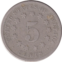 1872 USA Nickel About Good (AG-3)