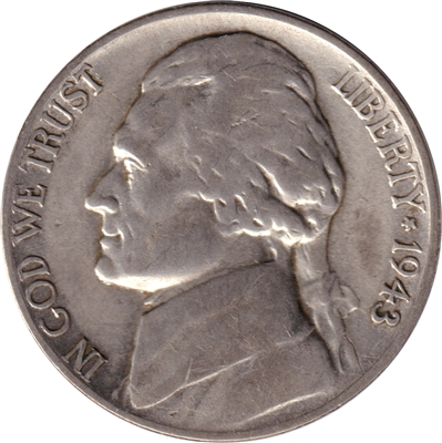 1943 P Silver USA Nickel VF-EF (VF-30)