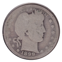 1899 USA Quarter About Good (AG-3)