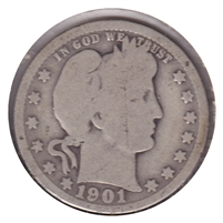 1901 USA Quarter About Good (AG-3)