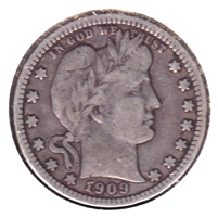 1909 USA Quarter F-VF (F-15)