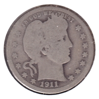 1911 USA Quarter Good (G-4)