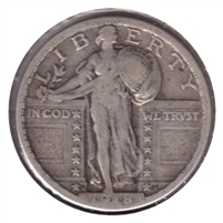 1918 D USA Quarter F-VF (F-15)