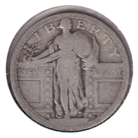 1917 D Var. 1 USA Quarter Good (G-4)
