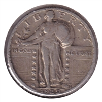 1929 USA Quarter VF-EF (VF-30)