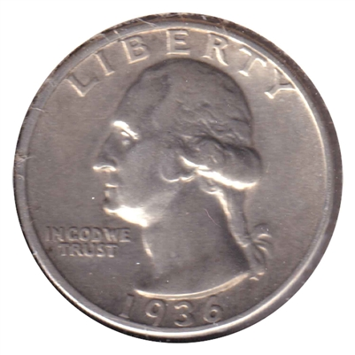 1936 USA Quarter EF-AU (EF-45)