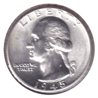 1945 USA Quarter Choice Brilliant Uncirculated (MS-64)
