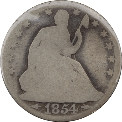 1854 USA Half Dollar About Good (AG-3)
