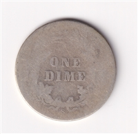 1899 S USA Dime About Good (AG-3)
