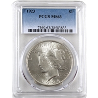 1923 USA Dollar PCGS Certified MS-63