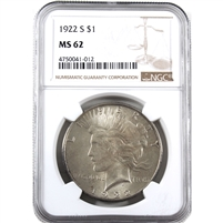 1922 S USA Dollar NGC Certified MS-62
