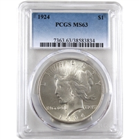 1924 USA Dollar PCGS Certified MS-63