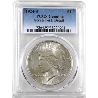 1924 S USA Dollar PCGS Certified AU Details (Scratch)