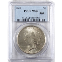1925 USA Dollar PCGS Certified MS-64