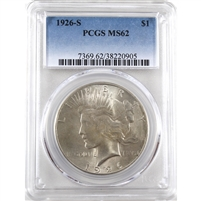 1926 S USA Dollar PCGS Certified MS-62