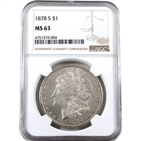 1878 S USA Dollar NGC Certified MS-63