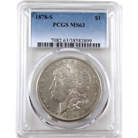 1878 S USA Dollar PCGS Certified MS-63
