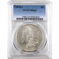 1878 S USA Dollar PCGS Certified MS-64