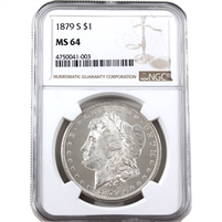 1879 S USA Dollar NGC Certified MS-64