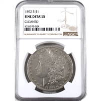 1892 S USA Dollar NGC Certified Fine Details (cleaned)