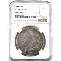 1896 O USA Dollar NGC Certified XF Details (cleaned)