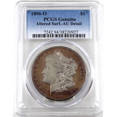 1896 O USA Dollar PCGS Certified Altered Surf. AU Details
