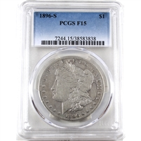 1896 S USA Dollar PCGS Certified F-15