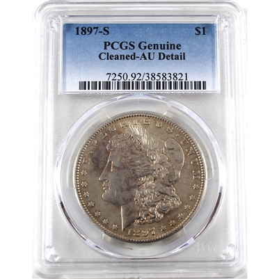 1897 S USA Dollar PCGS Certified AU Details (cleaned)