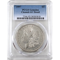 1897 USA Dollar PCGS Certified AU Details (cleaned)