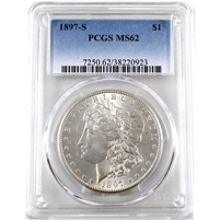 1897 S USA Dollar PCGS Certified MS-62