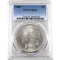 1886 USA Dollar PCGS Certified MS-63