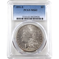 1891 S USA Dollar PCGS Certified MS-62