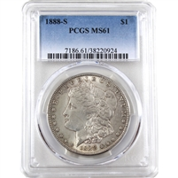 1888 S USA Dollar PCGS Certified MS-61