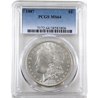 1887 USA Dollar PCGS Certified MS-64