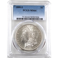 1880 S USA Dollar PCGS Certified MS-64